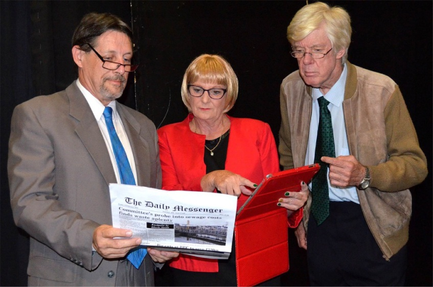 Don't Shoot The Messenger features Tim Riessen, Lynda Hunt and Paul Anderson. Picture: Shelley McGinn