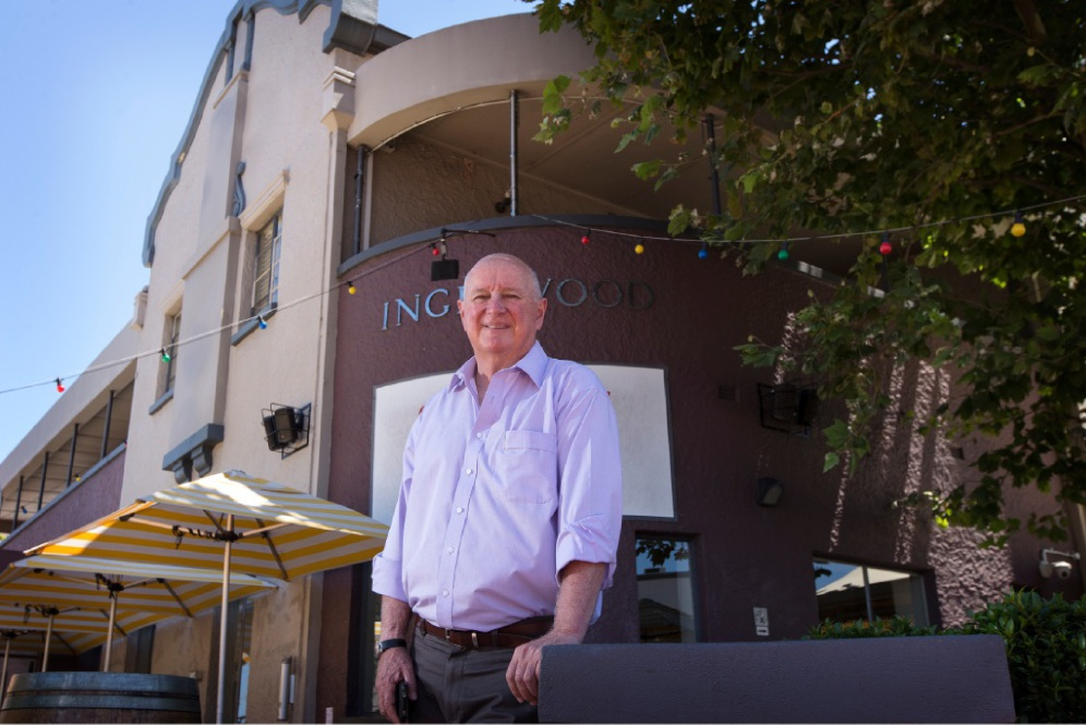 Murray Cutbush, the fourth owner of the Inglewood Hotel, is planning a few functions to commemorate its 80th anniversary. Picture: Will Russell www.communitypix.com.au   d449164