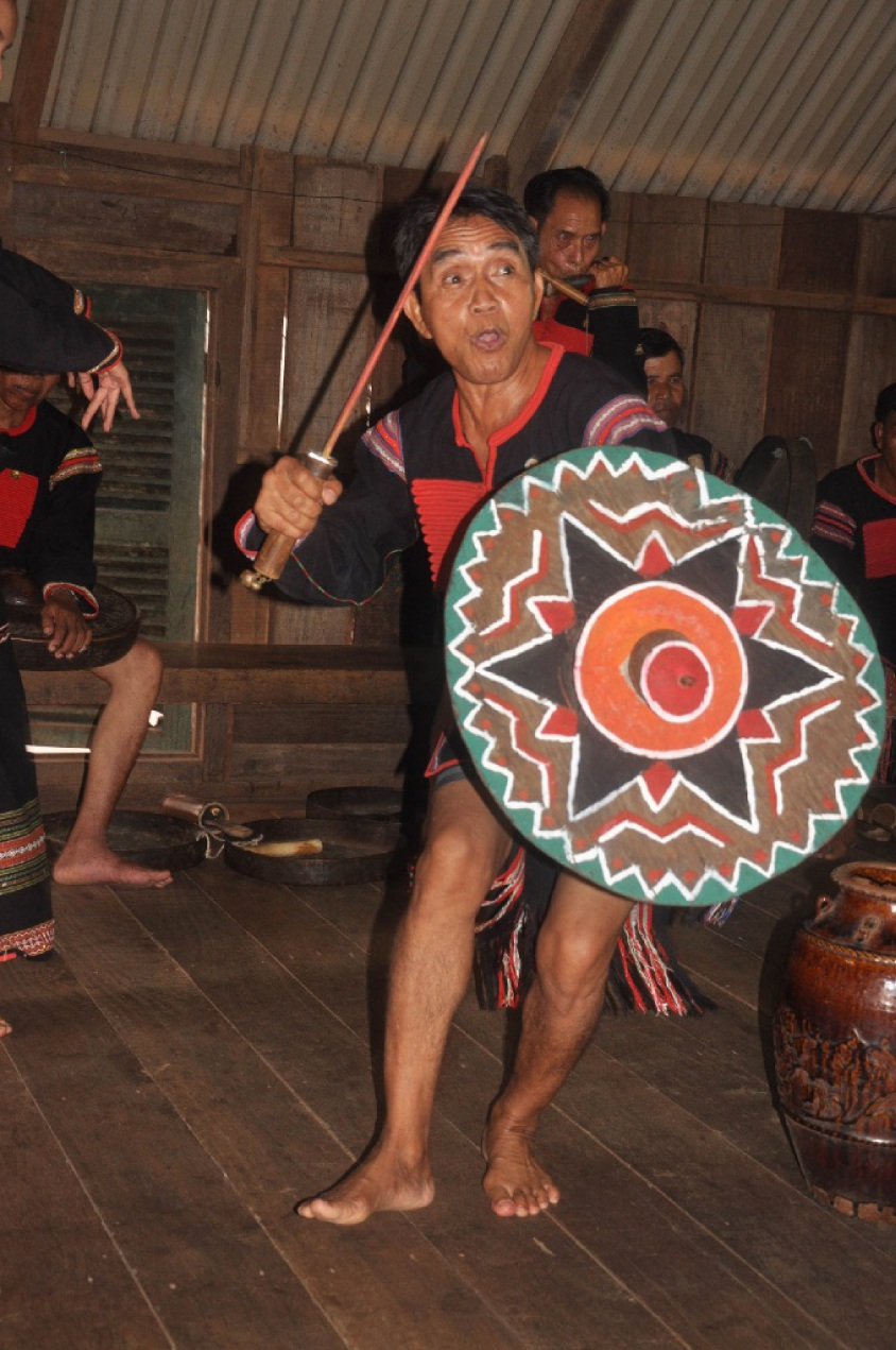 A member of the Ede minority group who will play among fellow elders as part of The Myth of Gong and Drum.