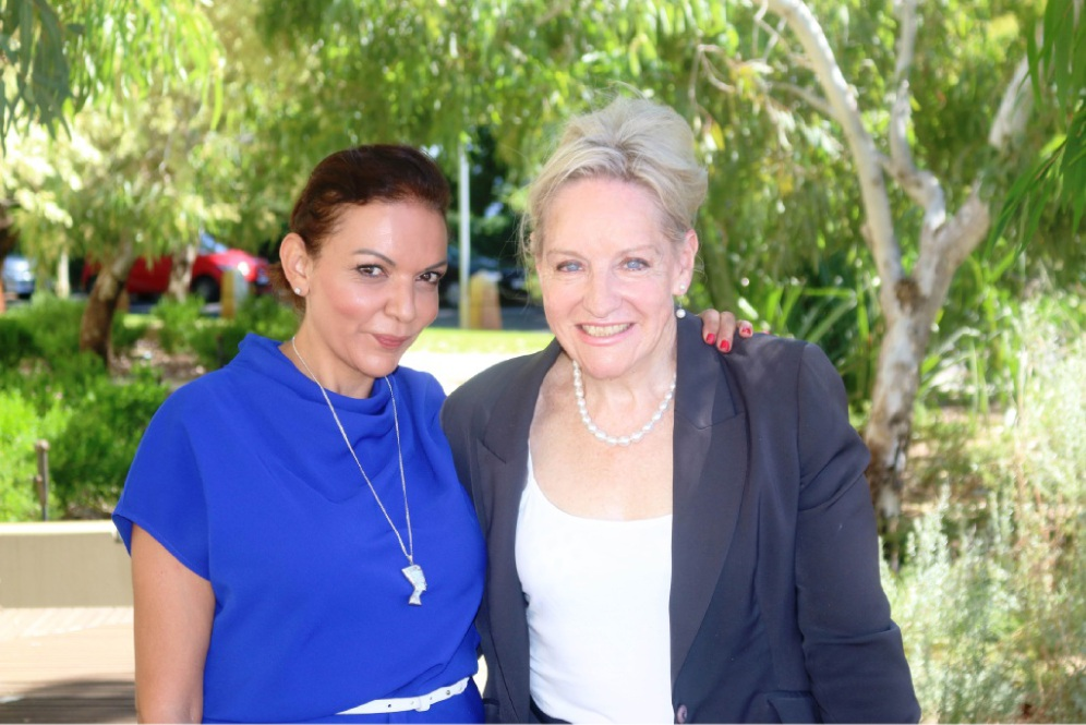 New Federal Labor candidate for Cowan Anne Aly (left) with Federal MP Alannah MacTiernan.
