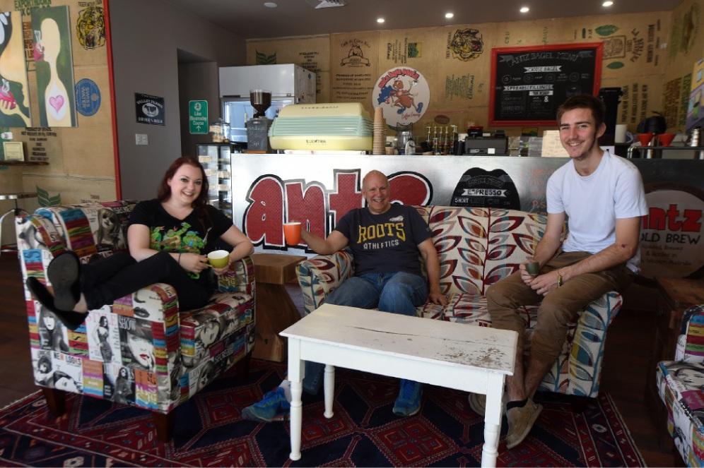 Locki Ferris, Craig Muzeroll and Janna Somers. Picture: Jon Hewson www.communitypix.com.au   d446037