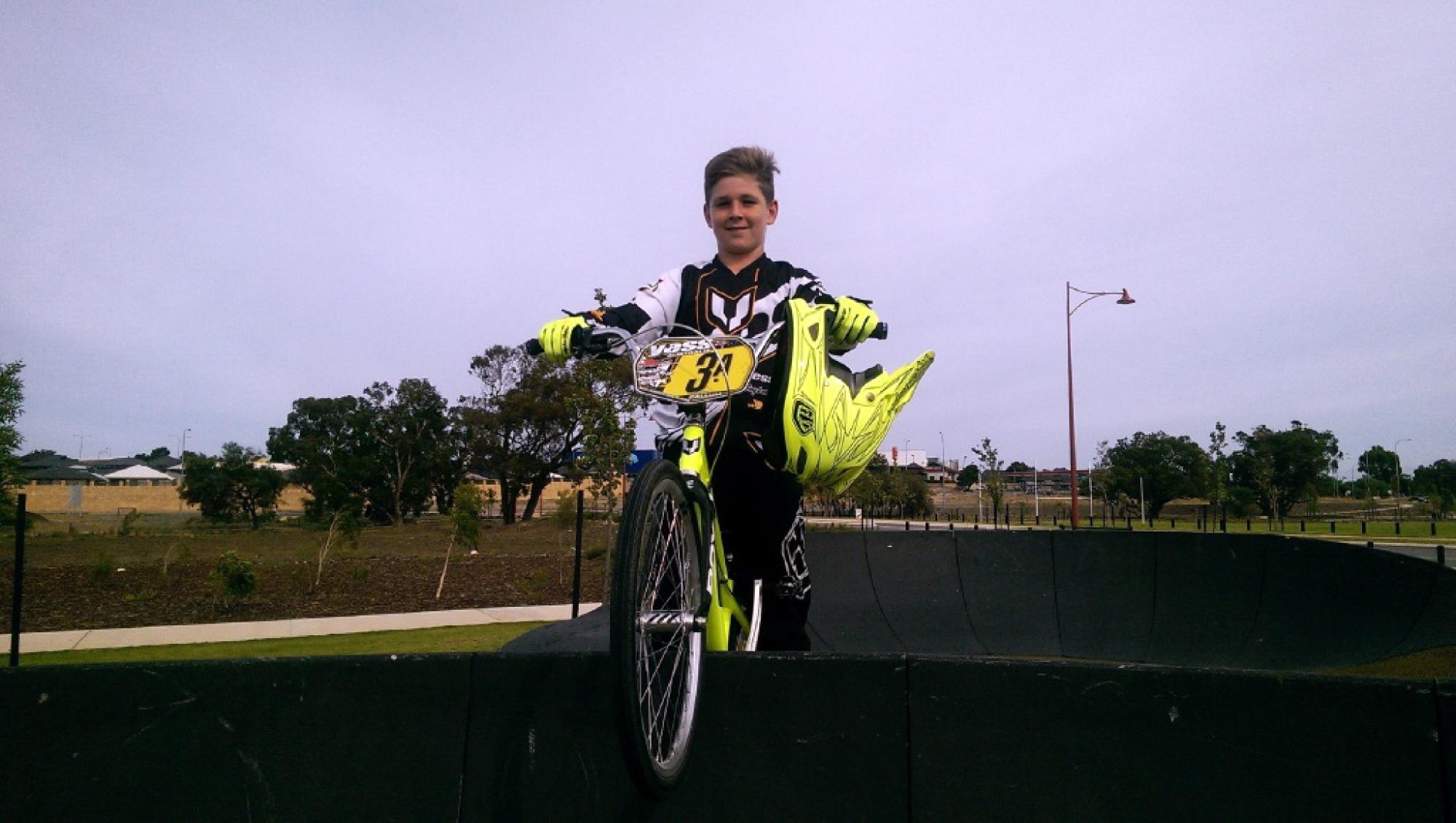 Talented young BMX rider Jordan Callum.