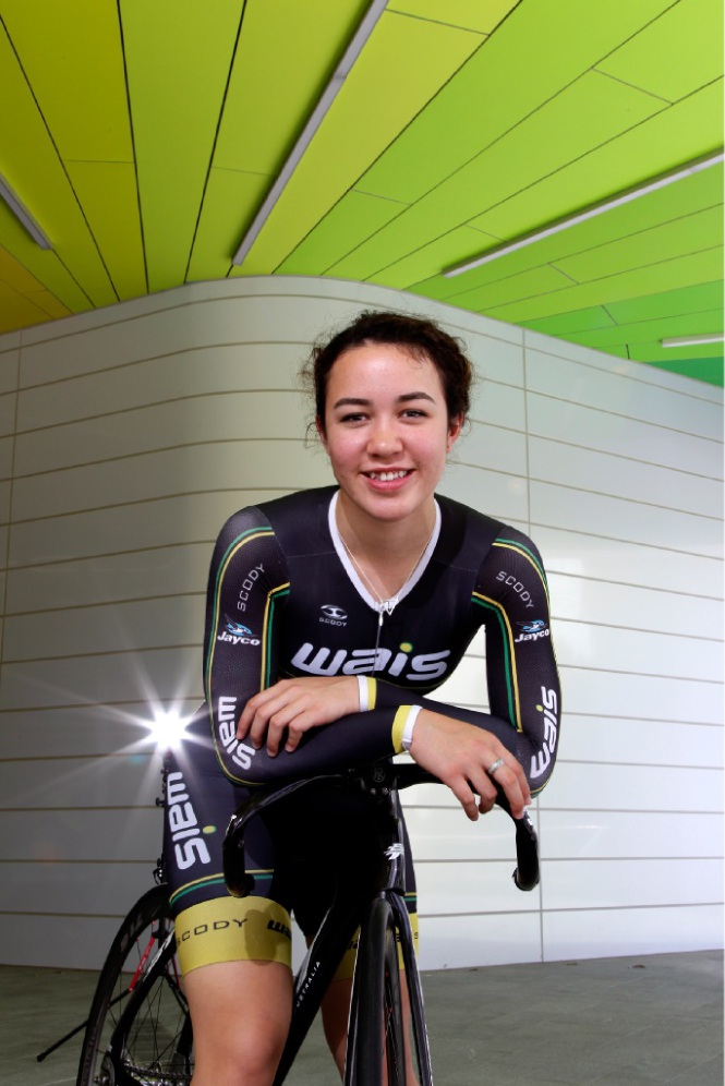 Cyclist Tahlay Christie intends to put all her effort into her sport this year. Picture: Marie Nirme   www.communitypix.com.au   d449058