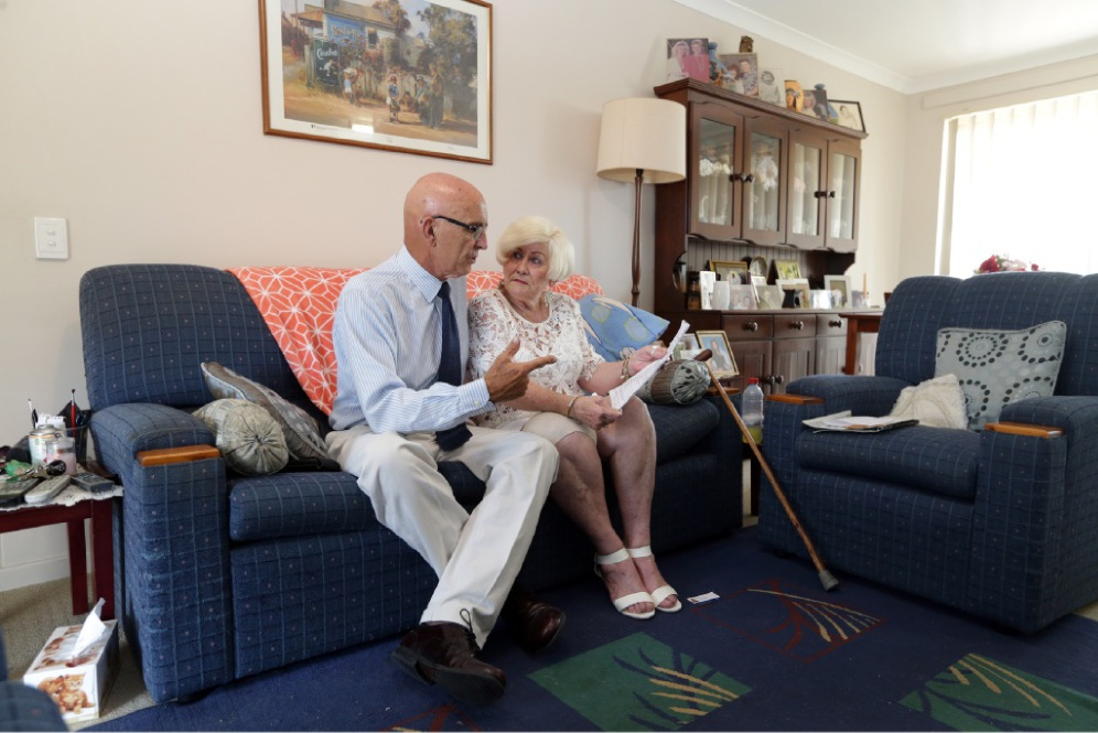 Rent pain: Jindalee resident Christine Nagel with MLA John Quigley. Picture: Martin Kennealey           d449057