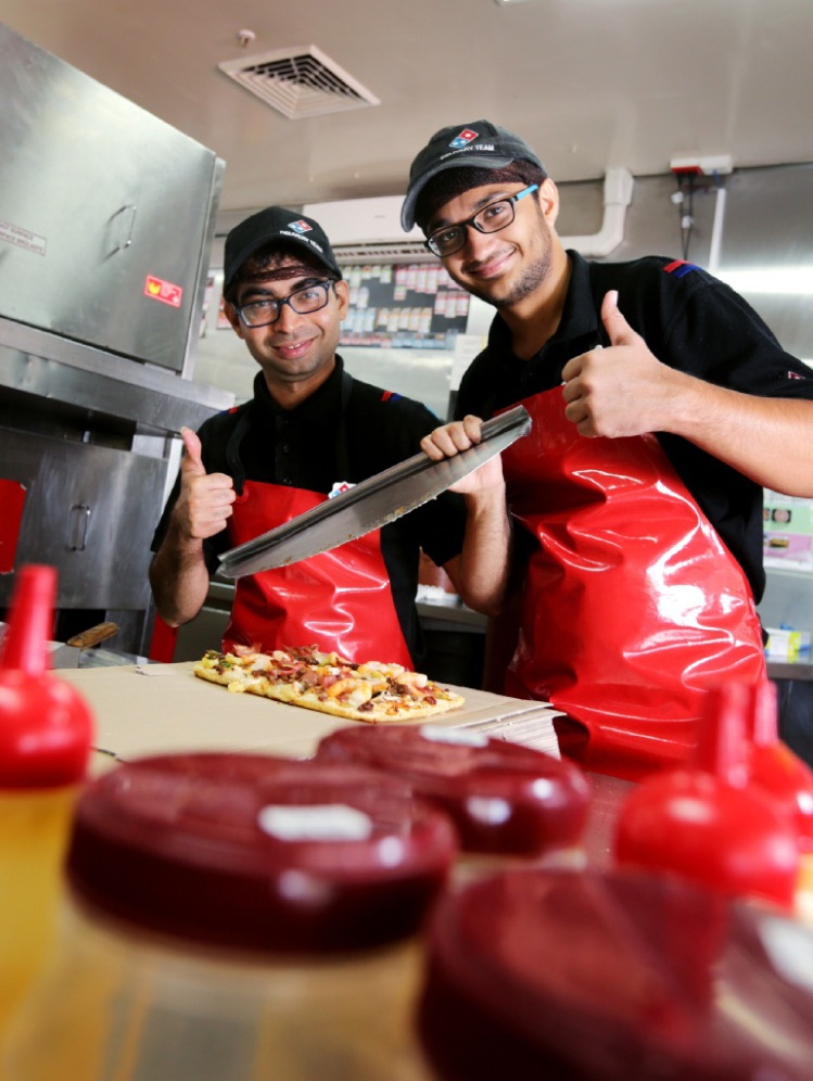 Prashant Tailor  and Viren Vagadia from Domino's Forrestfield.  Picture: David Baylis www.community|pix.com.au   d449118