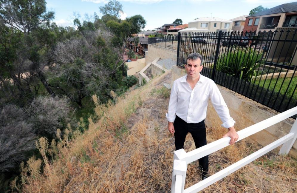 Bassendean MLA Dave Kelly near Ashfield Flats. Picture: David Baylis www.communitypix.com.au   d448847