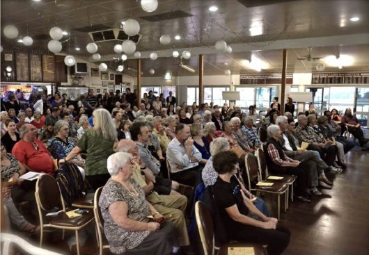 Bassendean residents filled the lawn bowls club armed with questions about what will happen to land around the oval.