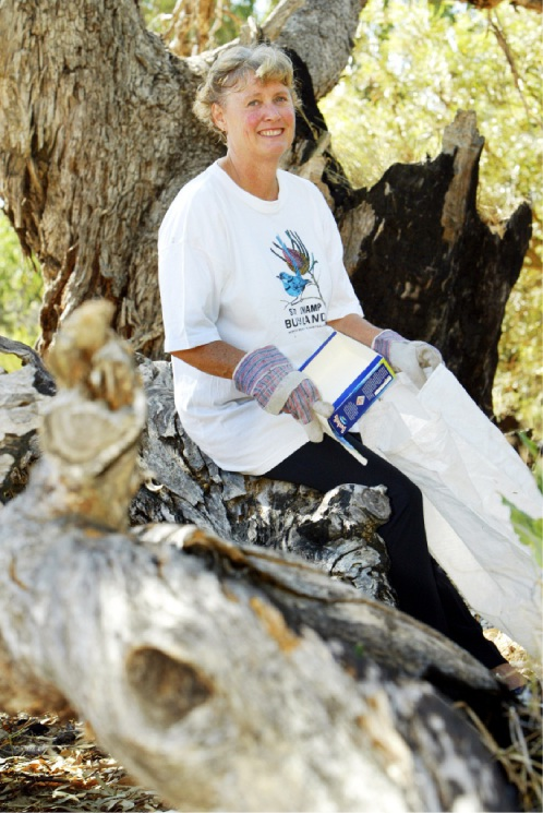 Christine Curry has been recognised for her many years of conservation work.