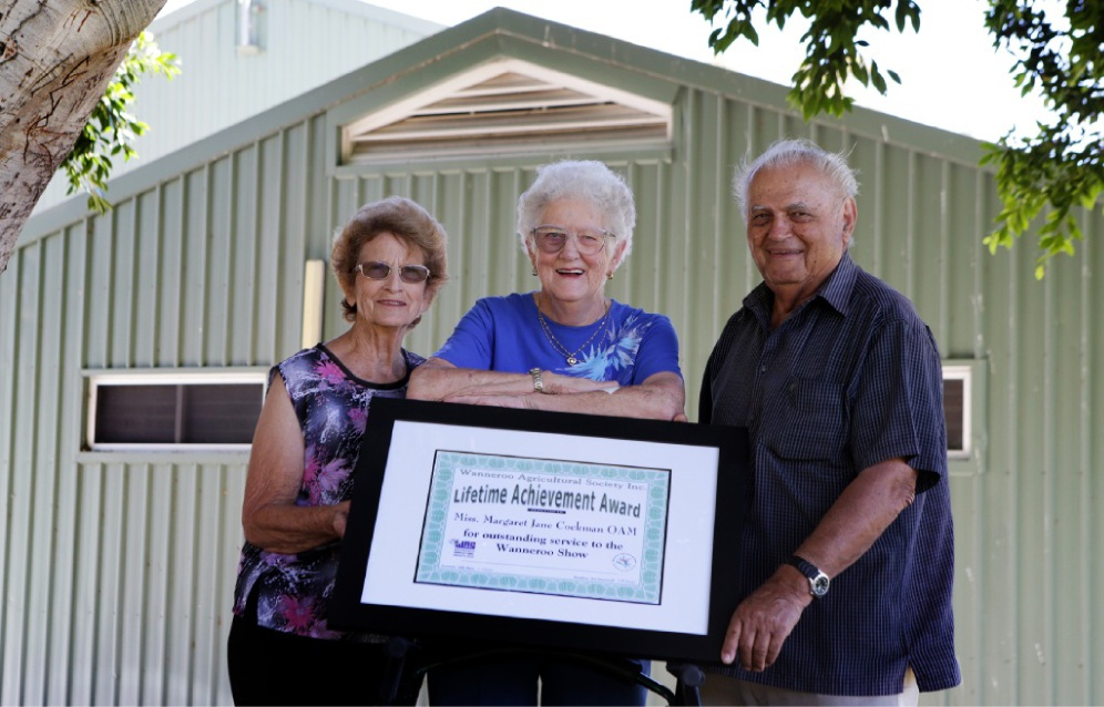 Wanneroo pioneers Rose Marinovich, Margaret Cockman and Nick Trandos.