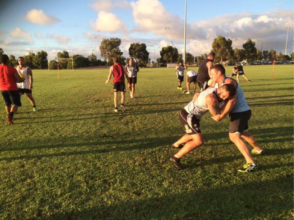 Players are training hard. Picture: Rockingham Coastal Sharks Facebook