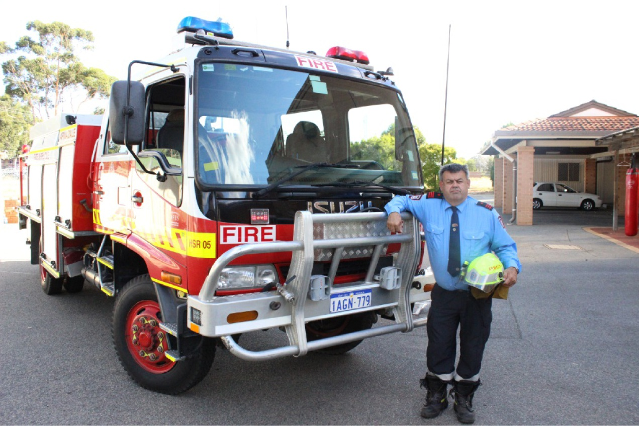 Armadale Volunteer Fire and Rescue Service captain Andrew Clift.