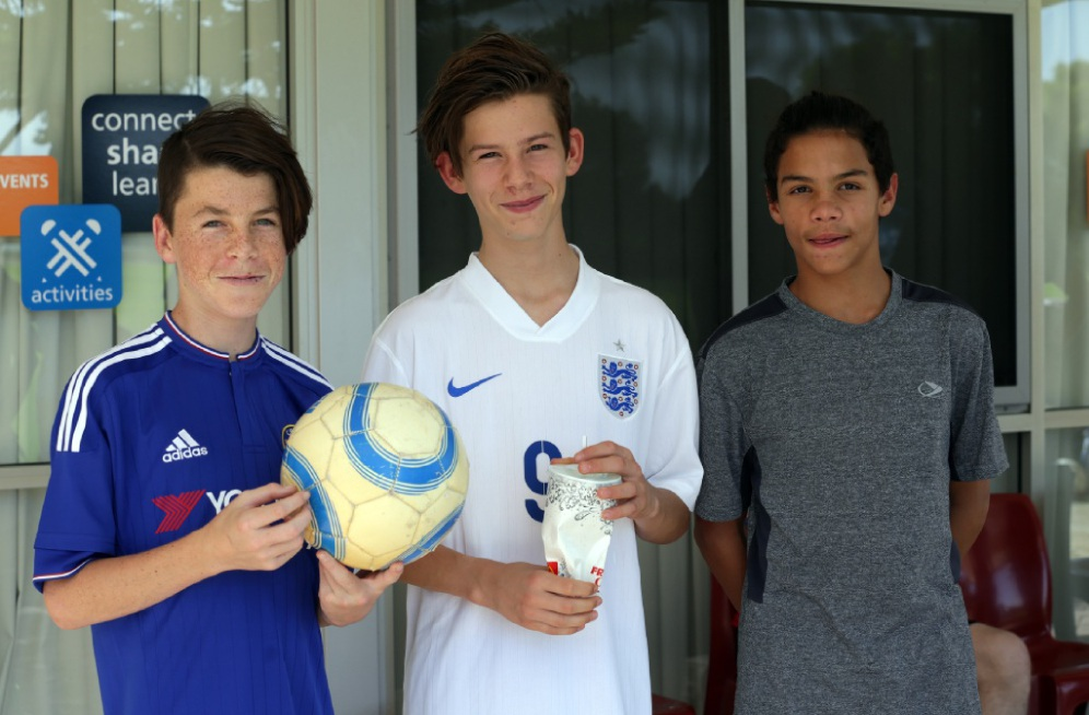 Will Woodhall,Sam Stevens and Radamaz Jankowski from Mindarie. Picture: Martin Kennealeyd448681