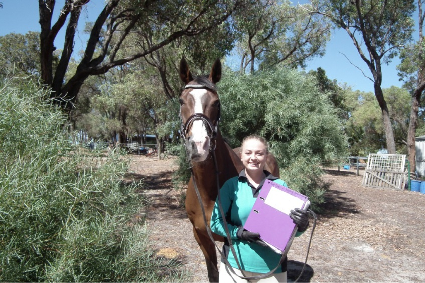 Bryony Kavanagh (17), with her horse Walter, has achieved her K certification.