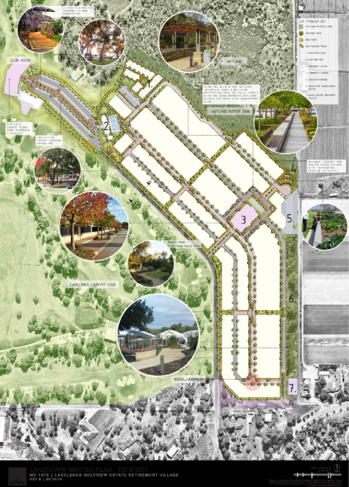 Picture shows proposal for Lakelands.