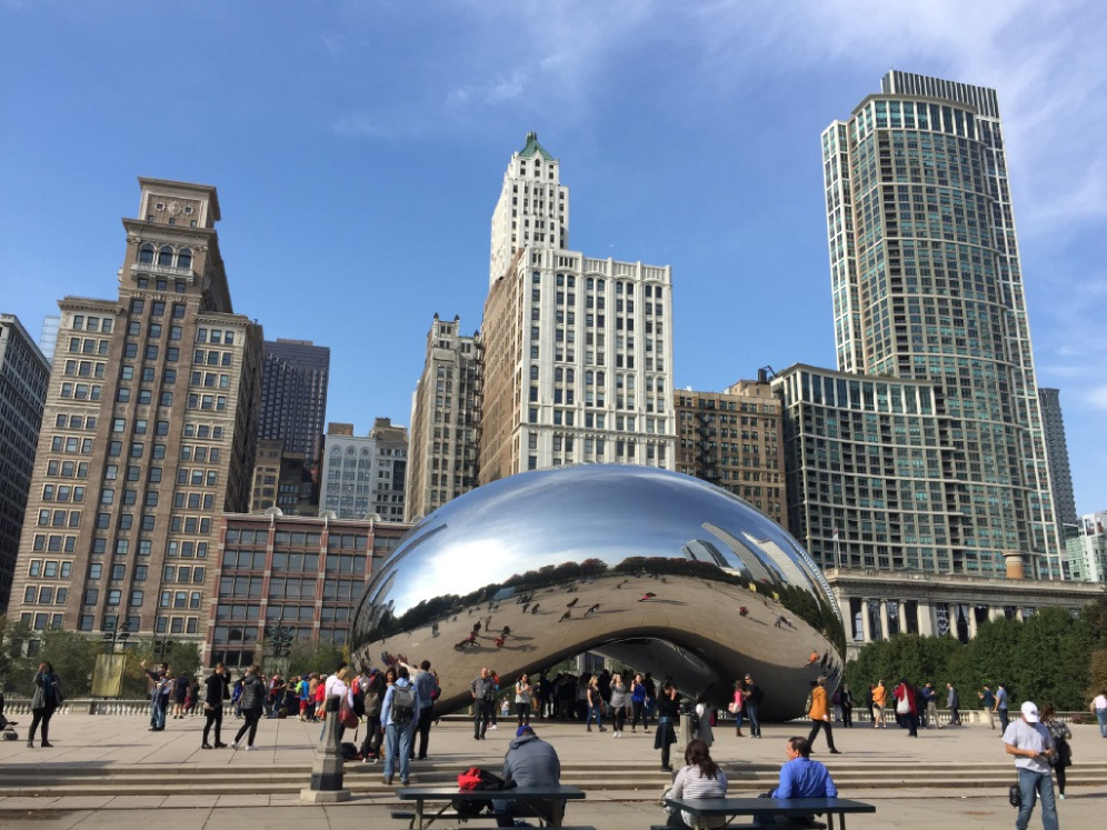 View of Chicago city skyline from architectural tour. Picture: Belinda Cipriano