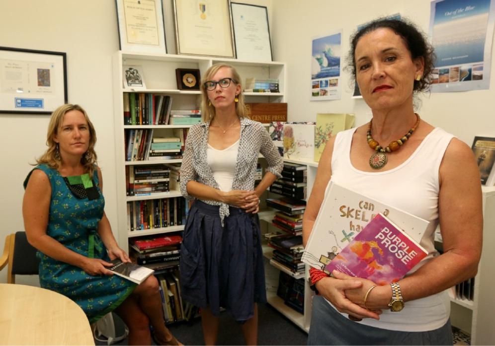 Poet Renee Pettitt-Schipp, Jen Jackson of Paper Bird Children's Books and Jane Fraser. d448510