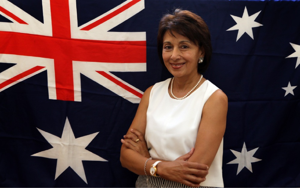 Rani Dogra, from Kenya, will be taking her oath of citizenship on Australia Day. Picture: Martin Kennealey  www.communitypix.com.au   d448734