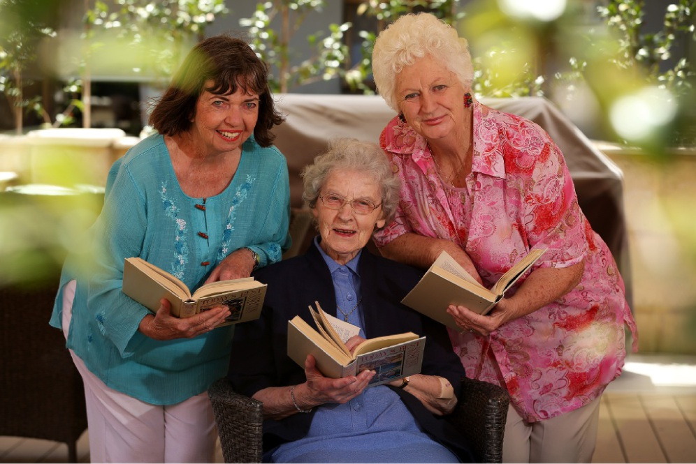 No-nonsense teacher Sister Anna Maria O'Shea and Irene Batini and Jenifer Stewart (class of '56) reminisced about their time at Our Lady's College (now Mercedes College) 60 years ago. Picture: Andrew Ritchie www.communitypix.com.au   d448569