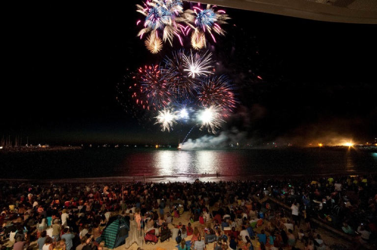 The 2015 Fireworks display in Fremantle. Picture: City of Fremantle