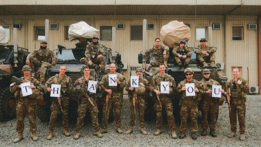 Warm wishes for overseas troops