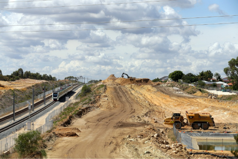 The Mitchell Freeway extension project is on track for completion |in the middle of next year.  Picture: Martin Kennealey  d448934