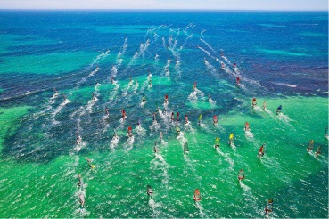 Racing action from the 2015 Lancelin Ocean Classic. Picture: John Carter