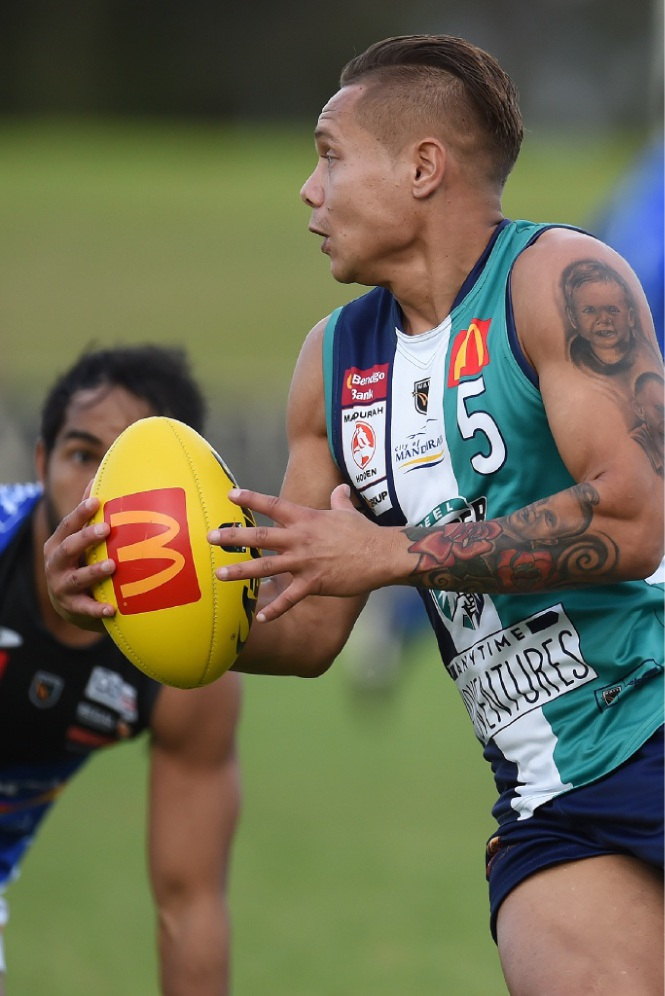 Leroy Jetta in action for Peel Thunder.        Picture: Jon Hewson