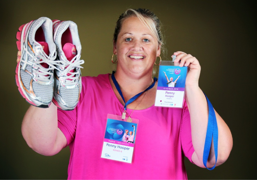 Penny Hooper is determined to help beat women's cancers.  Picture: David Baylis  d448638