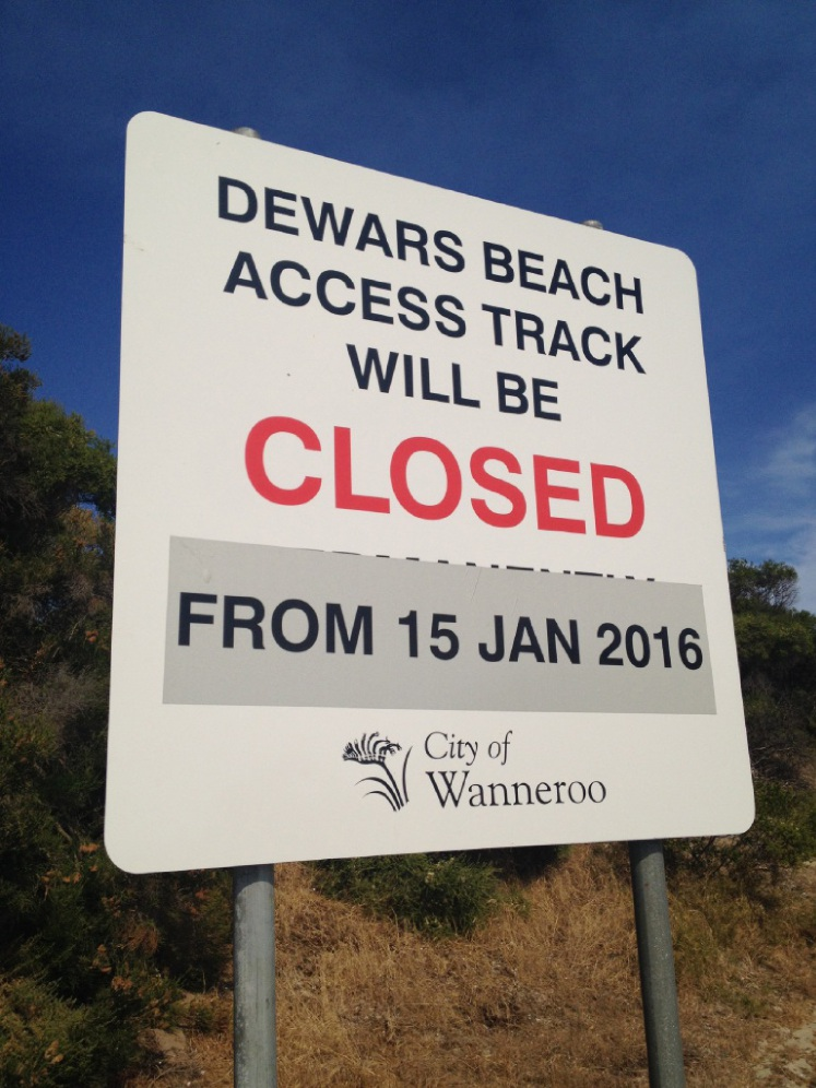 Closure to take effect