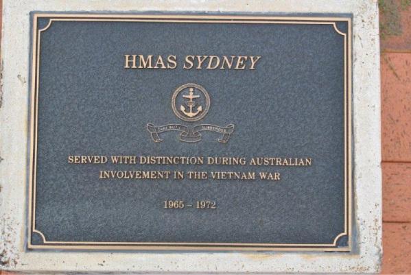 Navy memorial plaques taken