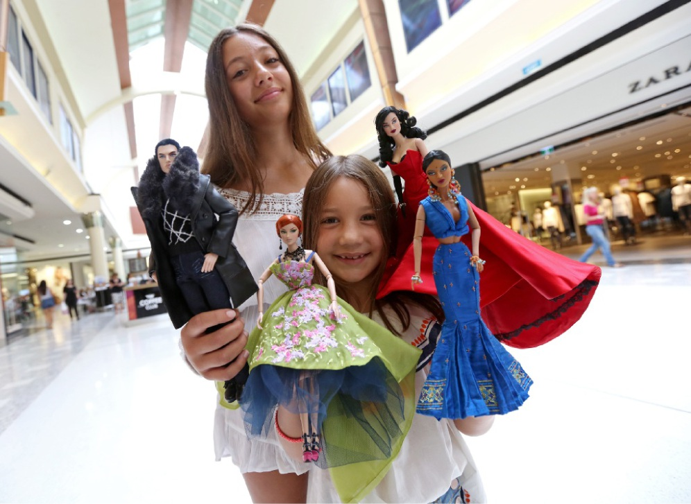 Sofia (12) and Ava (7) Scafetta from Attadale with Fashion Royalty Dolls
