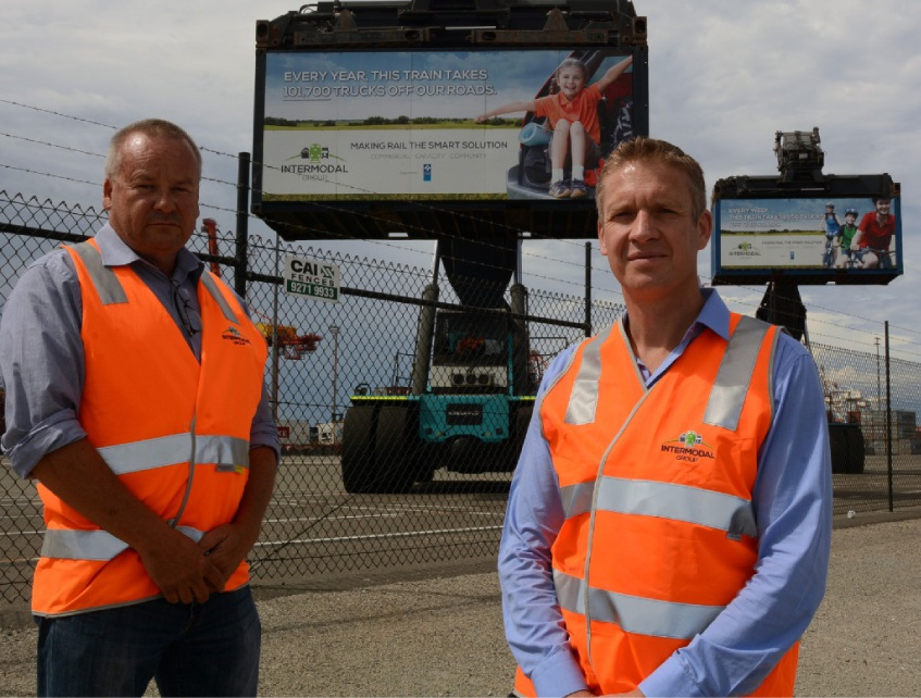 Intermodal chief executive Ben Higgins and general manager Darrin Smith.Picture: Jon Bassett