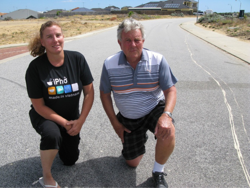 Seascapes residents Shay Holdsworth and Murray Rhodes have had enough of hoons on their street.