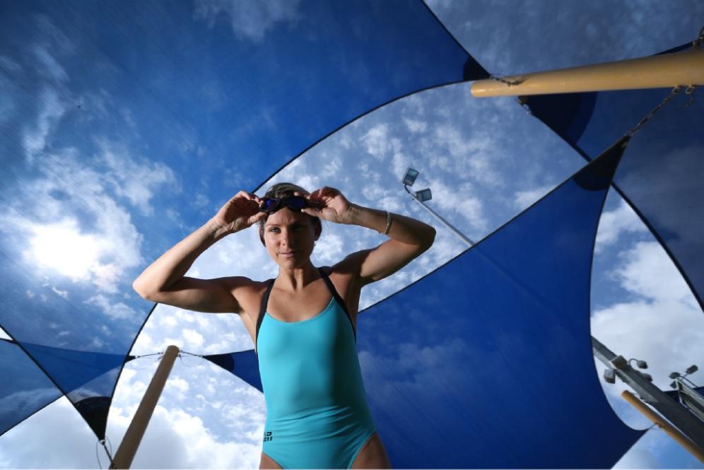 Professional triathlete Renee Baker. Picture: Andrew Ritchie  www.communitypix.com.au   d446650