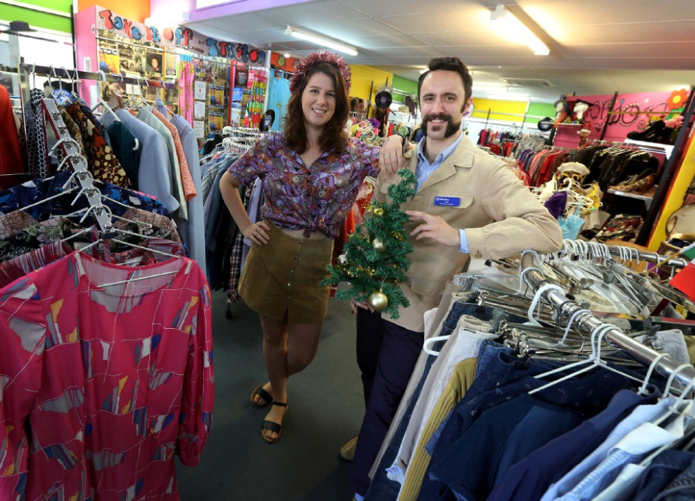 Lilly Dorn and Jay Overington at St Vinnies in Fremantle.d446901