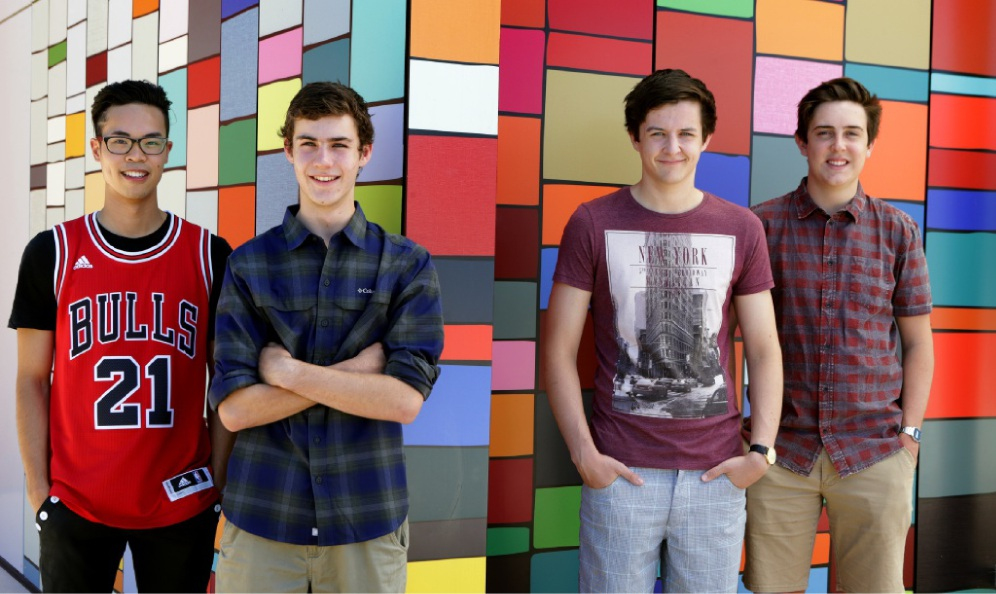 Daniel Vu, Blake Hillwood, Daniel Brown and Mitchell Bruce. Picture: Martin Kennealey           d448435