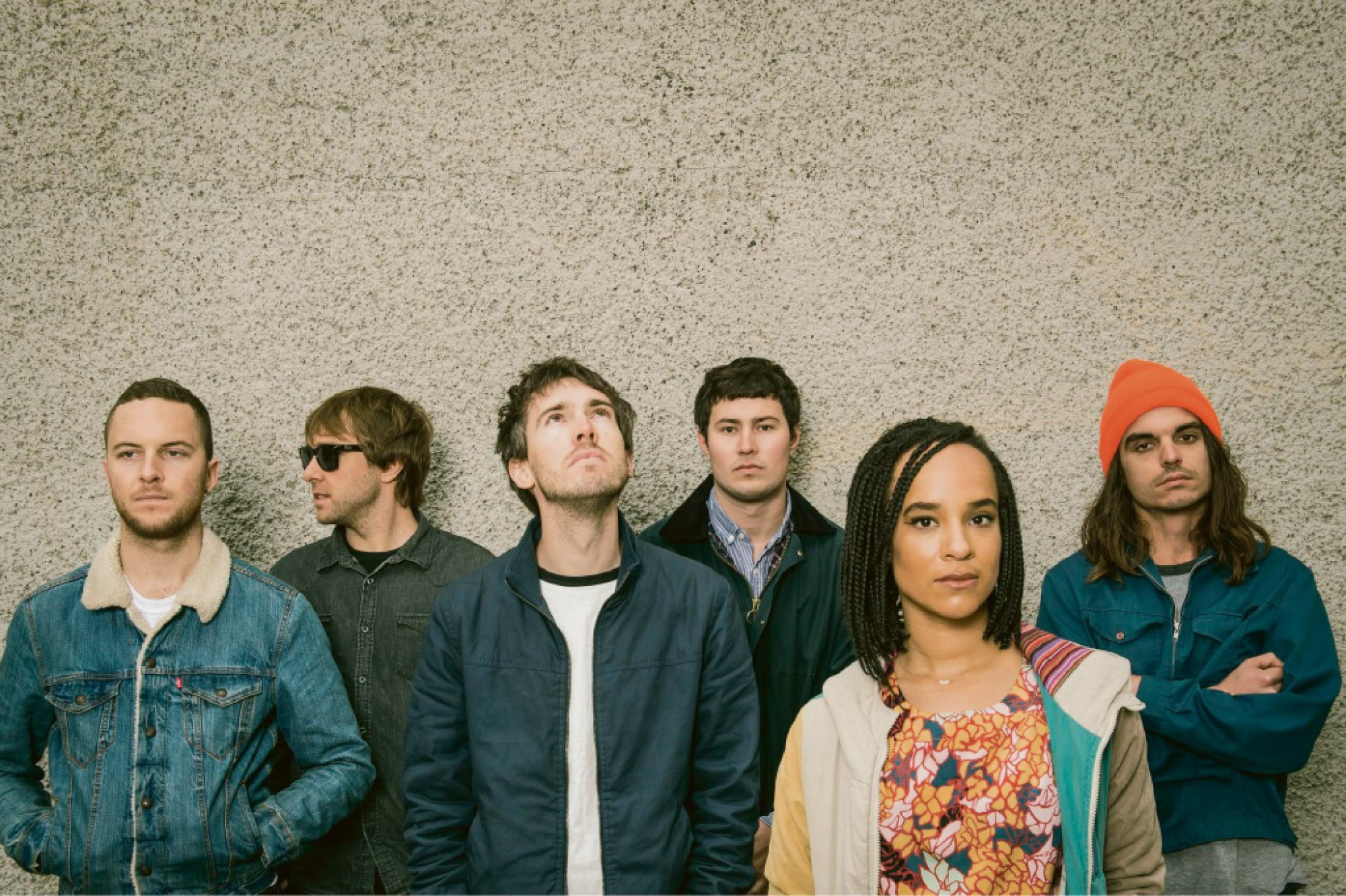The members of Melbourne-based band Saskwatch.