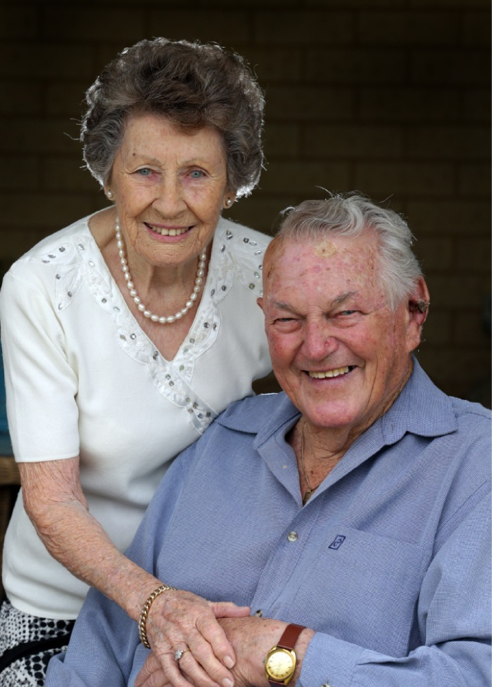 Jo and Vic Briand recently celebrated their 65th wedding anniversary. Picture: Martin Kennealey                         d448740