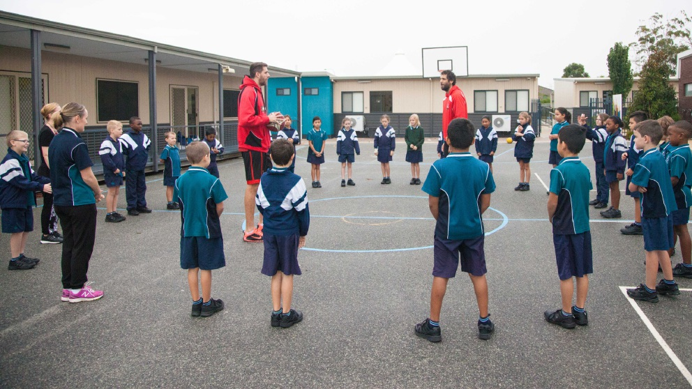 Tom Jervis and Matt Knight at Beechboro Christian School.