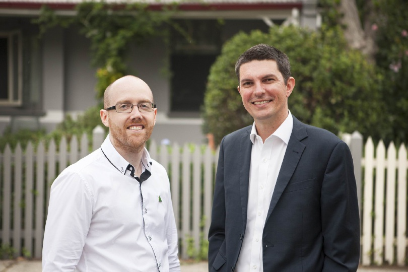 Greens candidate for Hasluck Patrick Hyslop with Senator Scott Ludlam.