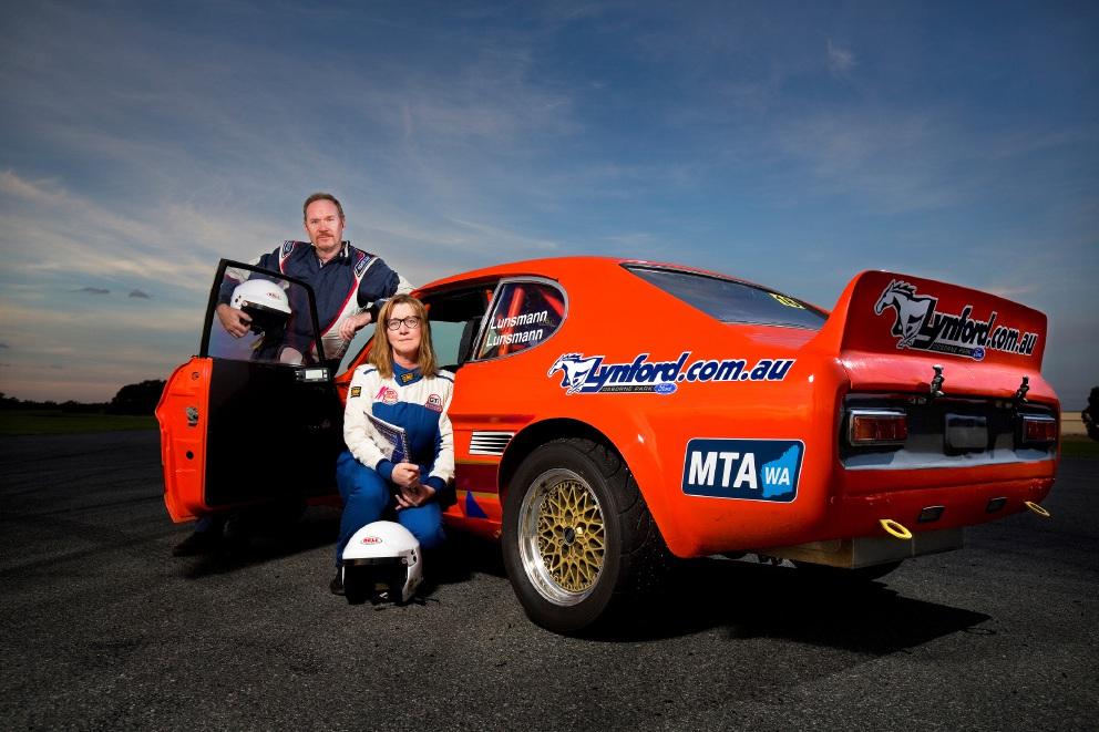 Jurgen and Helen Lunsmann with the Ford Capri A2
