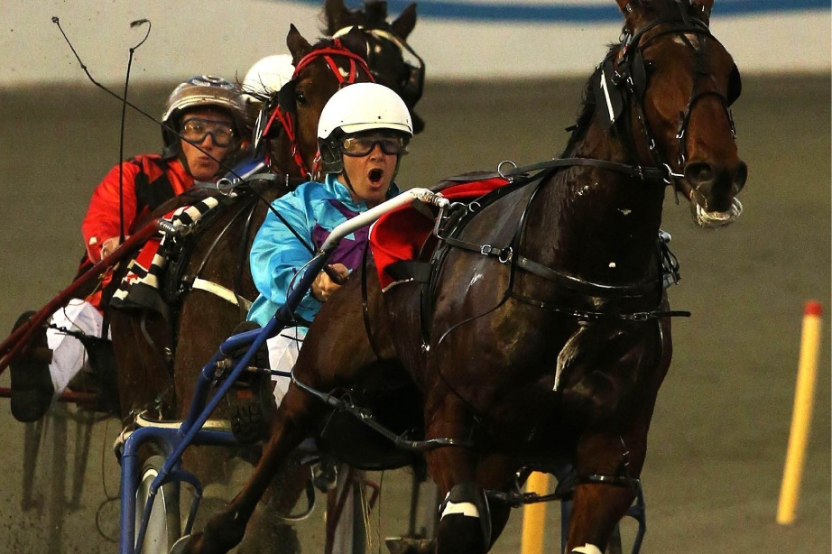 Some of the recent action at Gloucester Park, with Nathan Turvey sending Sprinter clear on the turn to record an easy victory. Picture: Michael Wilson The West Australian