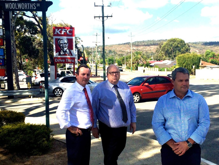 Mark McGowan joined Stephen Price and Andrew Waddell at the Forrestfield location.