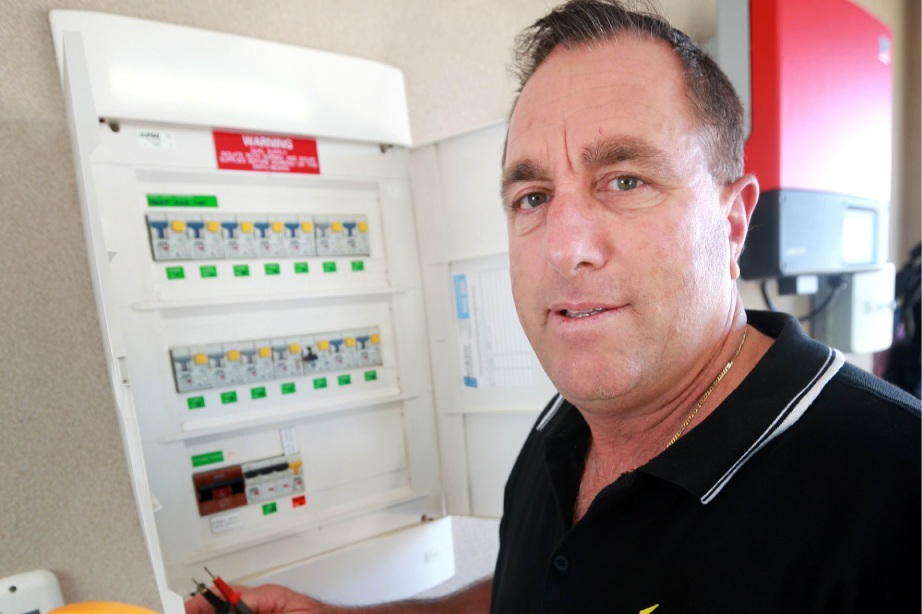 Business owner Carlo Scamuffo (South Guildford) wants the State Government to consider renewables for the future for energy needs. Picture: David Baylis d452005