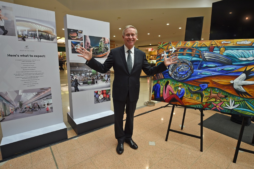 Colin Barnett launched the redevelopment of Mandurah Forum this morning. Picture: Jon Hewson