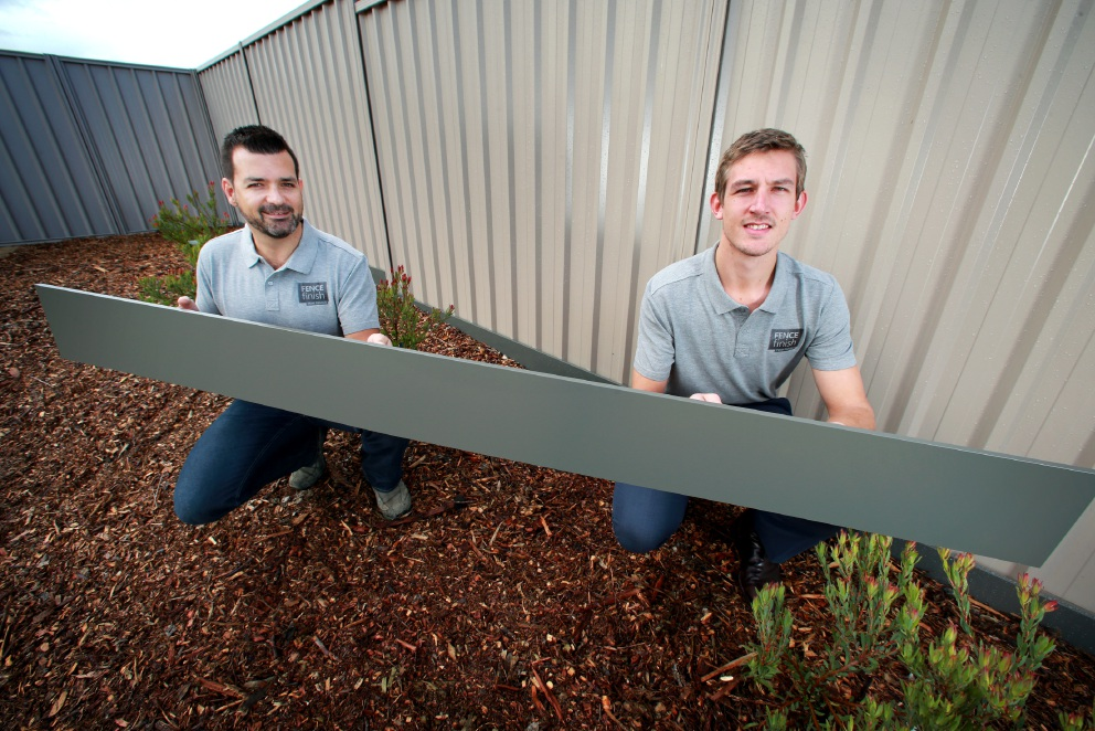 Fence Finish, the handy panels developed in Brabham that keep snakes from your yard