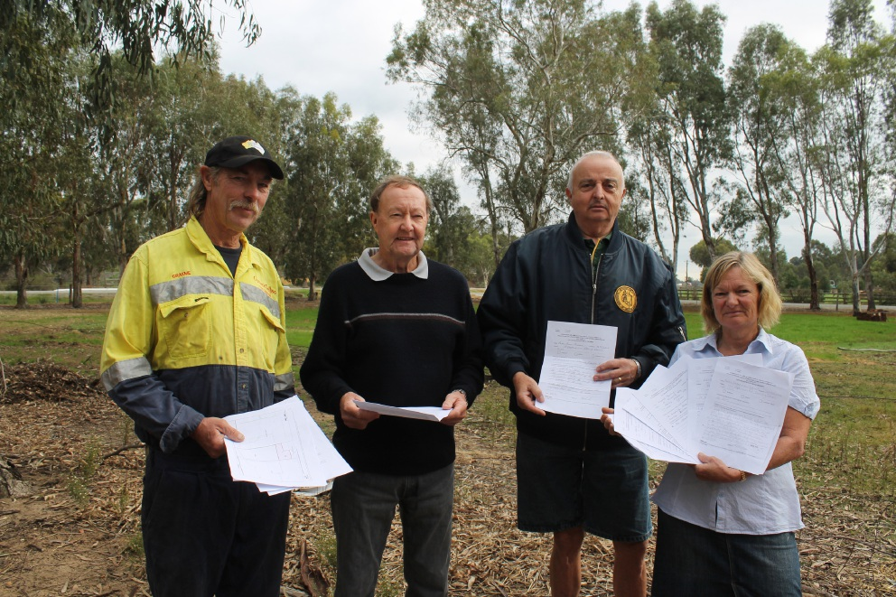 Darling Downs residents Graeme Farrell, Russell Twining, Alan Andrews and Karen Treble are concerned about plans to erect a |40-metre telecommunications tower near their properties.