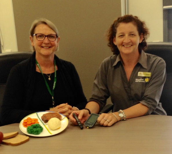Wheatbelt GPN diabetes educators Amanda Harding and Nyaree Lawler hold clinics.