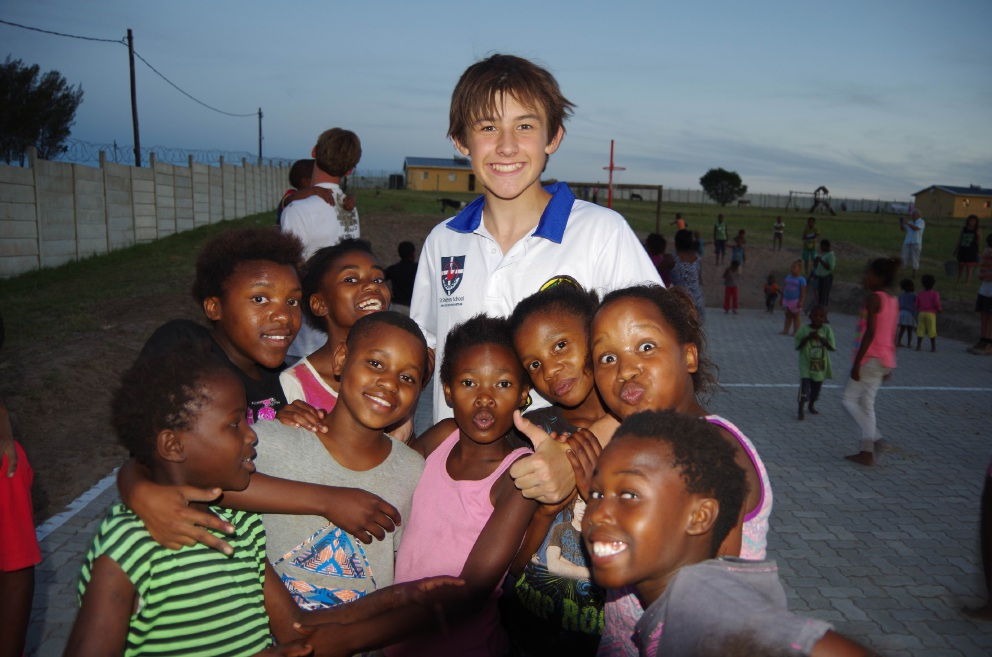 Matthew Smith with children from the Jehovah Jireh Haven orphanage.
