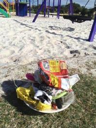 Waikiki resident Sky Sweeney is fed up with litter in her neighbourhood